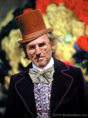 Steve Jobs Willie Wonka ©2010 MacDailyNews