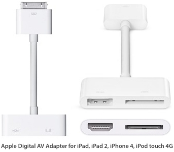 Apple Digital AV Adapter HDMI cable for iPad, iPhone, iPod touch