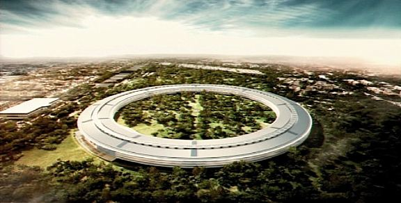"Rendering of Apple's ""Mothership"" campus proposed for Cupertino, CA"