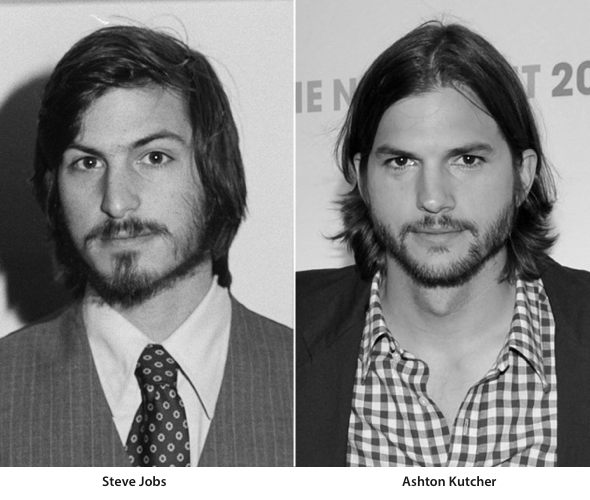 Steve Jobs and Ashton Kutcher, Photo: Tom Munnecke/Getty Images, Henry S. Dziekan III/WireImage