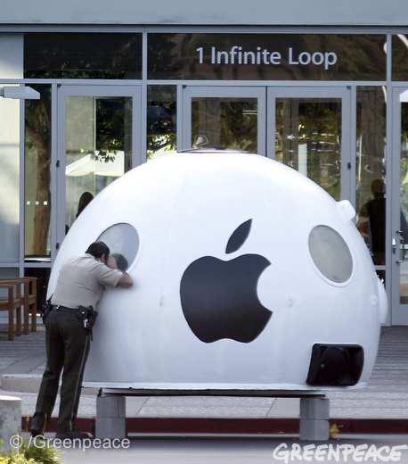 Greenpeace iPod at Apple Inc. headquarters in Cupertino, CA