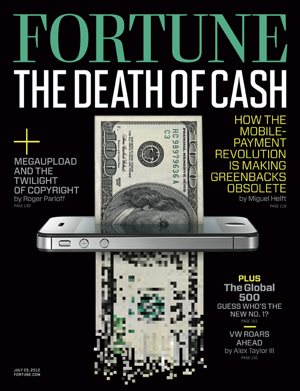 Fortune Magazine cover, Death of Cash, Apple iPhone