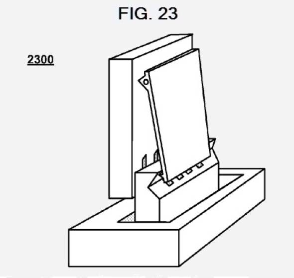 Apple patent application:  Power/data clips and docking station systems