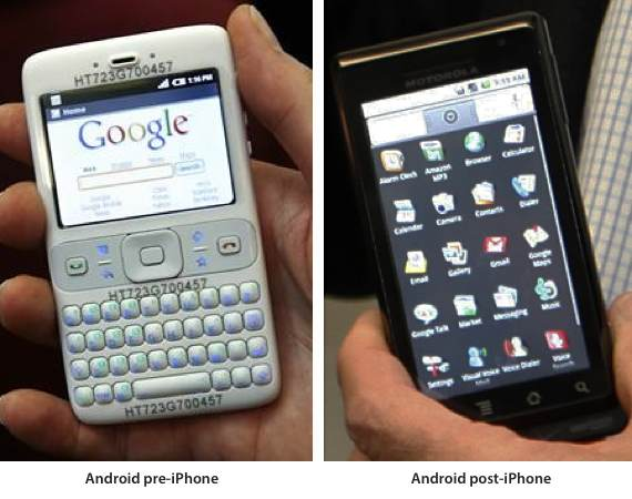 Google's Android platform exists as it does today because of Apple's iPhone
