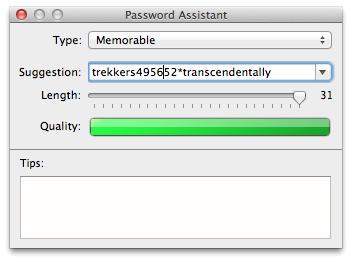 OS X Password Assistant