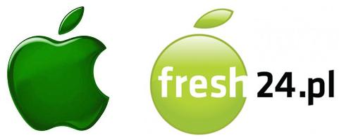 Apple Inc. logo vs. A.pl / fresh24.pl logo