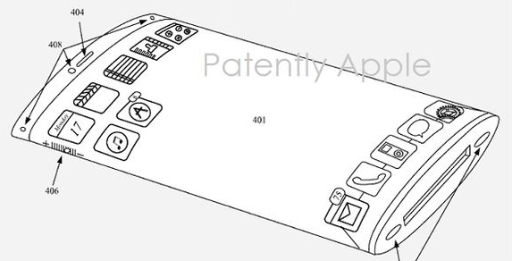 Apple USPTO patent application for iPhone with Wraparound Display
