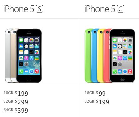 iPhone 5s vs. iPhone 5c