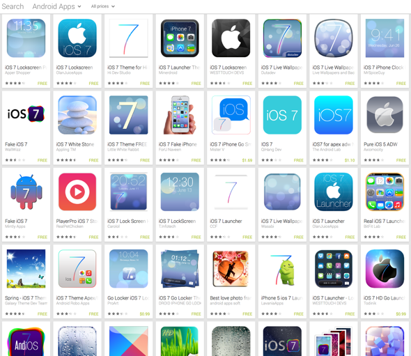 Already There Are Over 200 Android Apps Attempting To Ape Apple S
