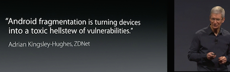 Android fragmentation and malware