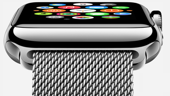 Apple Watch in 42mm Stainless Steel Case with Milanese Loop