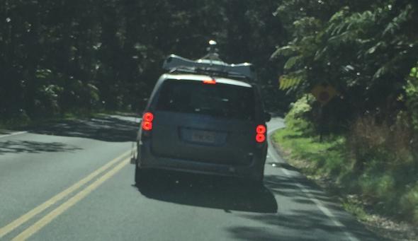 Apple mystery van in Hawai'i Volcanoes National Park
