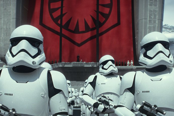 The new stormtroopers featured in Star Wars: The Force Awakens. Courtesy of Walt Disney Pictures