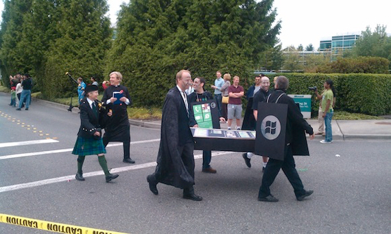 Beleaguered Microsoft's iPhone Funeral September 2010