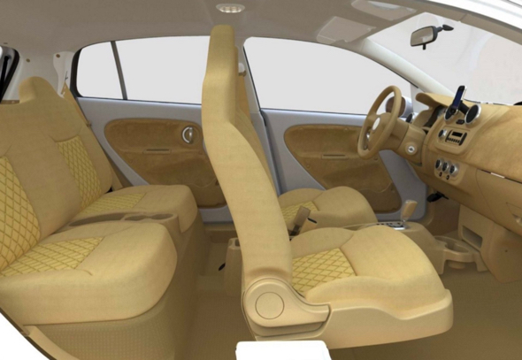 "The interior of the V-Vehicle used fibre-wood throughout, which was left exposed and gave the car an organic appearance. According to designers, it also made the car smell like fresh wood. ""The fresh-car smell you're used to is actually just plastic. The wood smell is way more pleasant."" Photograph: Bryan Thompson"