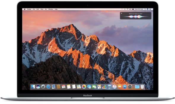 Siri makes its debut on the Desktop with macOS Sierra.