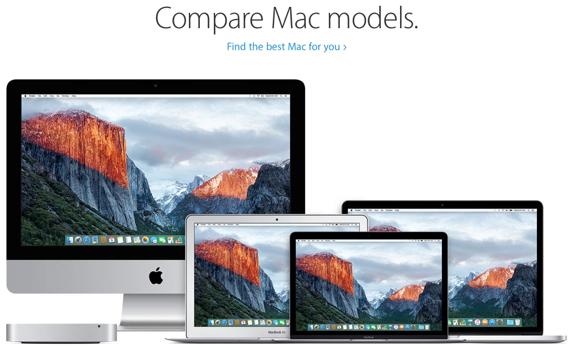 Compare Mac models - Apple.com