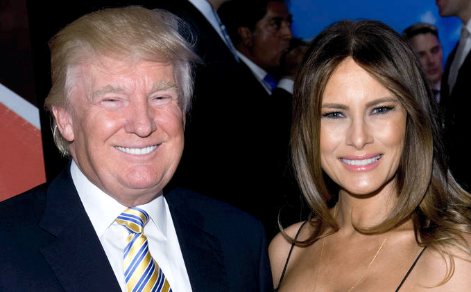 President-elect of the United States Donald Trump and First Lady of the United States Designate Melania Trump