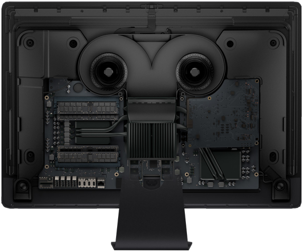 Apple's all new iMac Pro with rear case removed