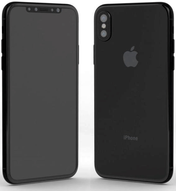iPhone 8 is said to sport a new dual vertically aligned camera to aid AR, anedge-to-edge OLED display, and an elongated Sleep/Wake button that may house Touch ID (Image: Nodus and Gordon Kelly)