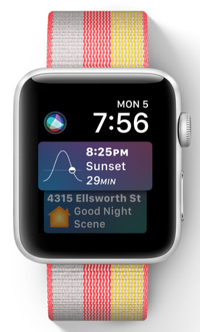 The new Siri watch face displays the most relevant information throughout the day