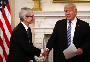 Apple CEO Tim Cook joins President Trump's American Worker advisory board