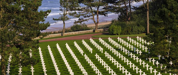 Normandy American Cemetery in Colleville-sur-Mer, France