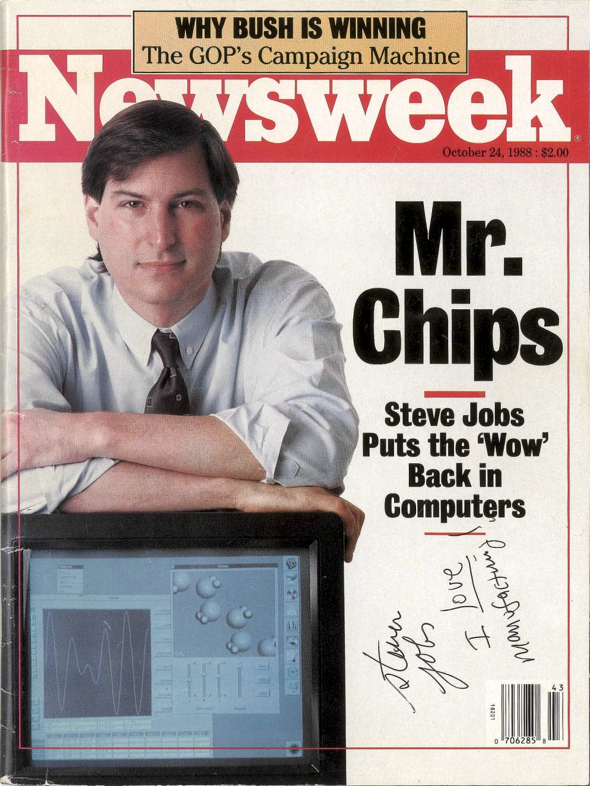 1988 Newsweek magazine autographed by Steve Jobs sells for over $50,000