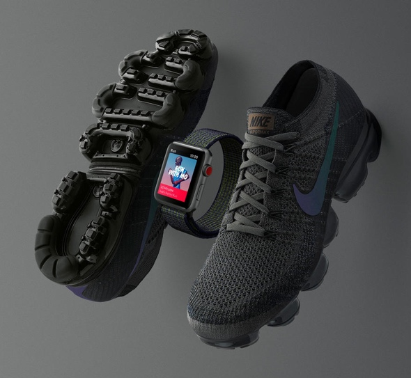The Midnight Fog edition Apple Watch Nike+ Series 3 (GPS + Cellular) and Nike Air Vapormax