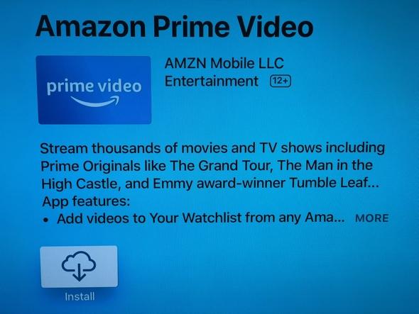 Apple TV App Store gets Amazon Prime Video app