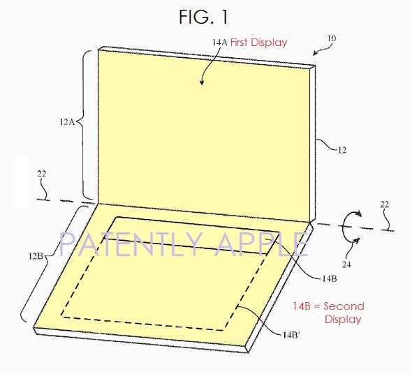Apple granted a patent for a dual display MacBook or future-gen iPad Pro