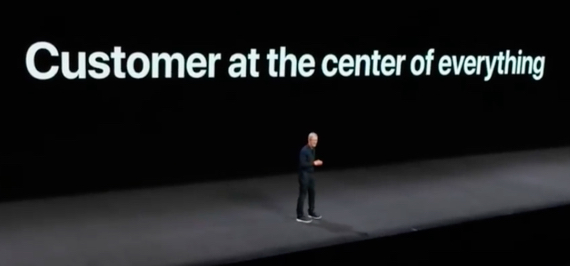 Apple CEO Tim Cook's keynote address at WWDC 2018 on June 4, 2018