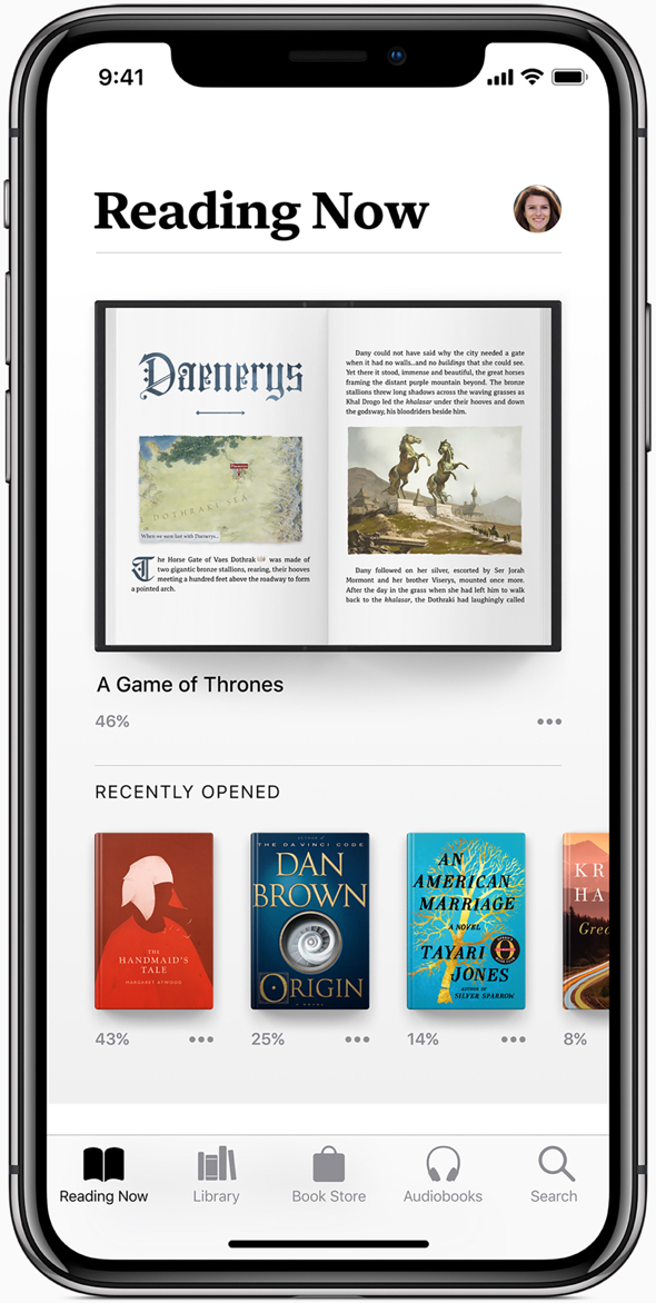 Apple Books gives iPhone and iPad users a beautiful and easy way to discover and enjoy books and audiobooks.