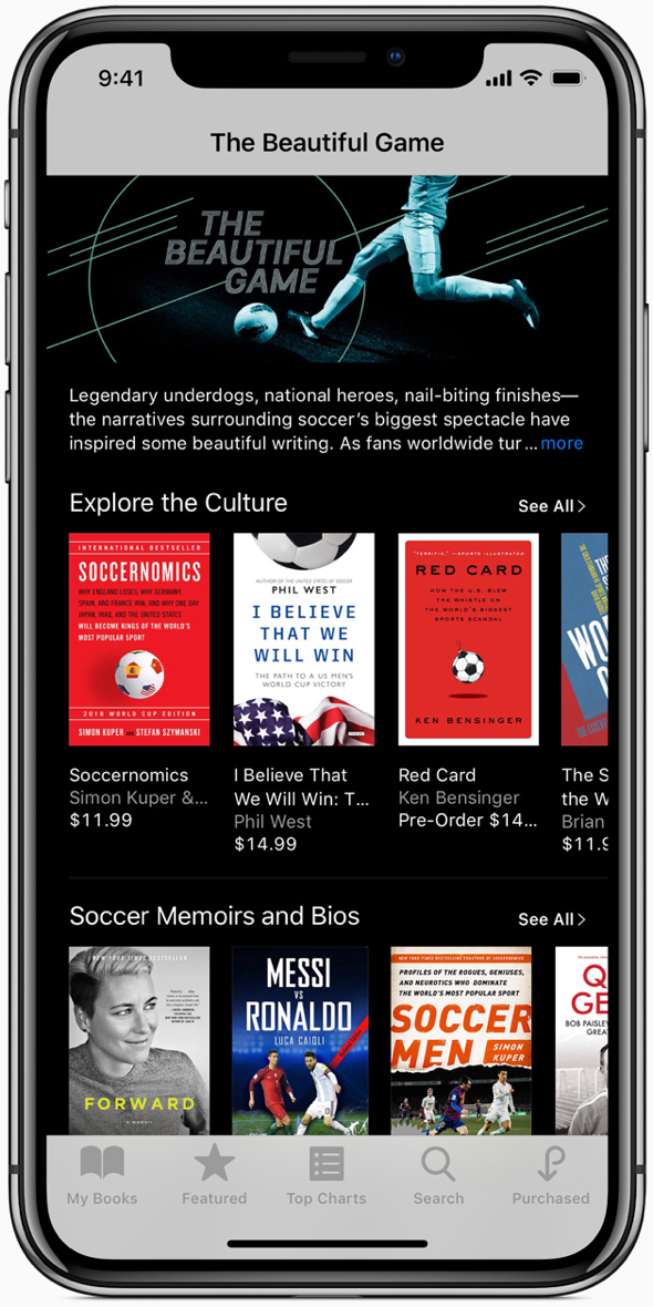 """""""The Beautiful Game"""" in Apple Podcasts and iBooks celebrates the history and legends of the game."""