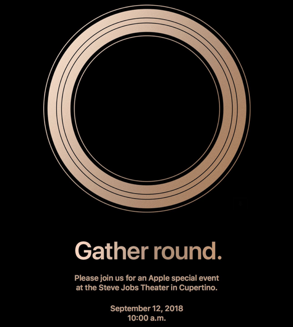 Apple to hold 'Gather Round' special media event on September 12th