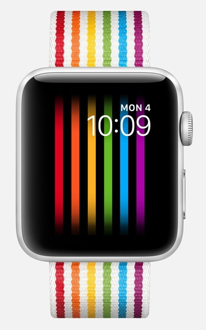 Apple's new pride face for the Apple Watch