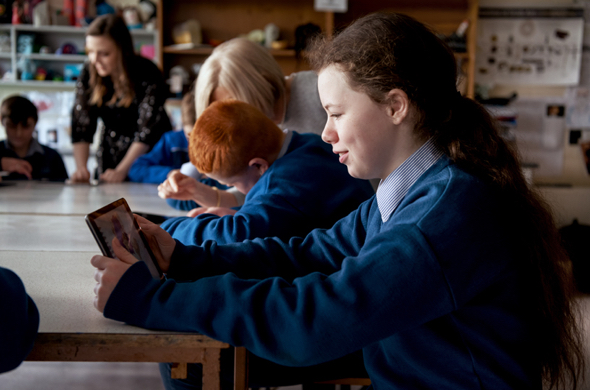Terence MacSwiney School student Ericka Lingwood has developed her animation skills as part of the Apple volunteer program.